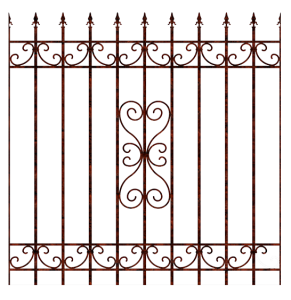 —Pngtree—wrought iron railing fence_1043229